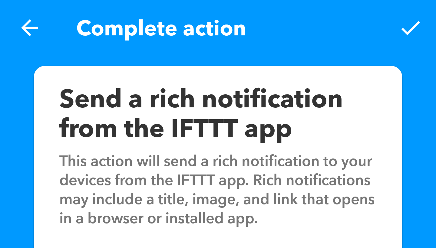 IFTTT lets you create custom rich notifications on Android