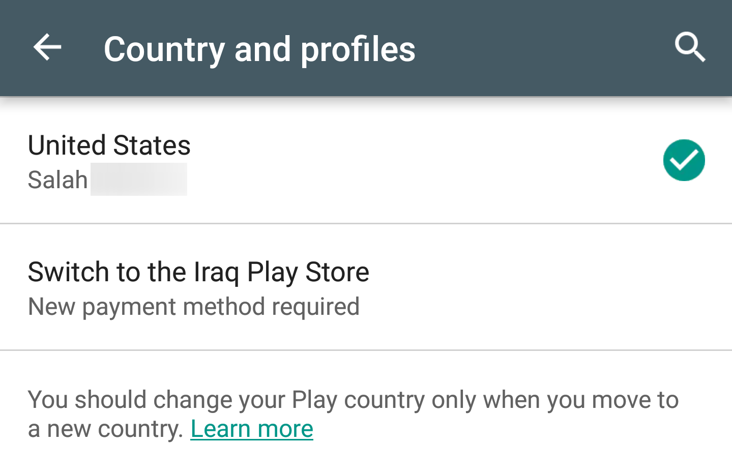 It's now a little bit easier to change your country in the