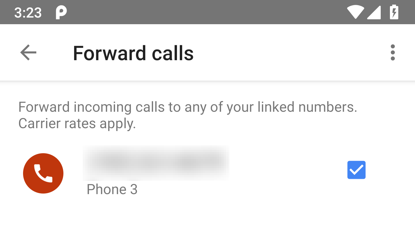 Google voice v59 prepares voicemail greetings to be recorded in app there also happens to be a small change to that same screen that just had the rename mentioned above instead of just showing the phone number for a linked kristyandbryce Images