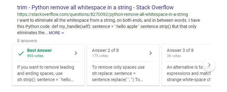 Google Search shows Stack Overflow answers in search results