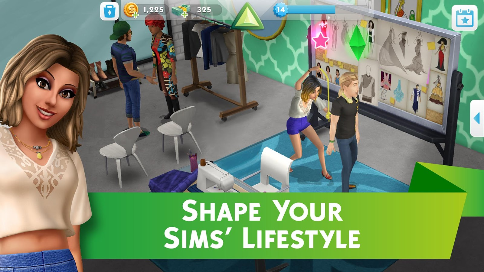 sims mobile stickers