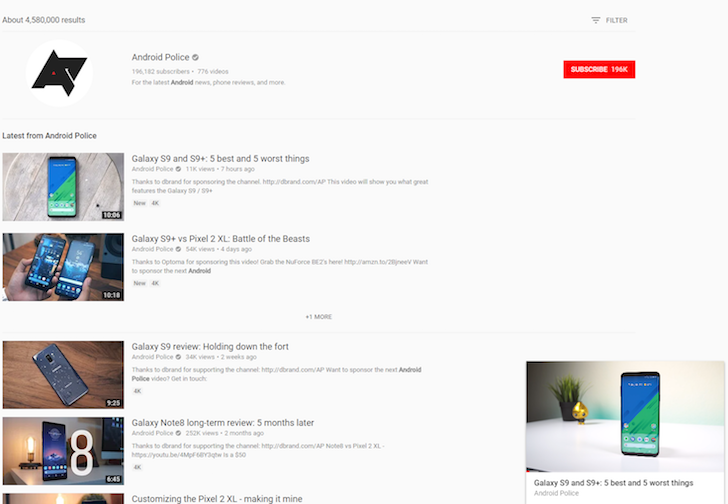 Update: Official] YouTube picture-in-picture Miniplayer now
