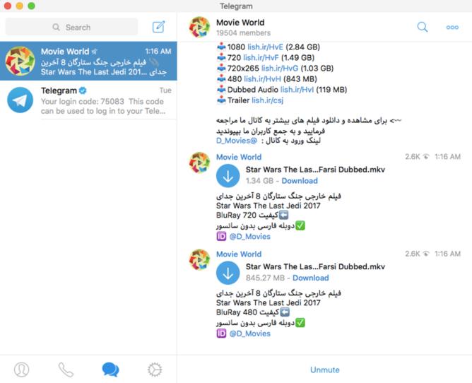 Telegram chat app blocked in Russian Federation
