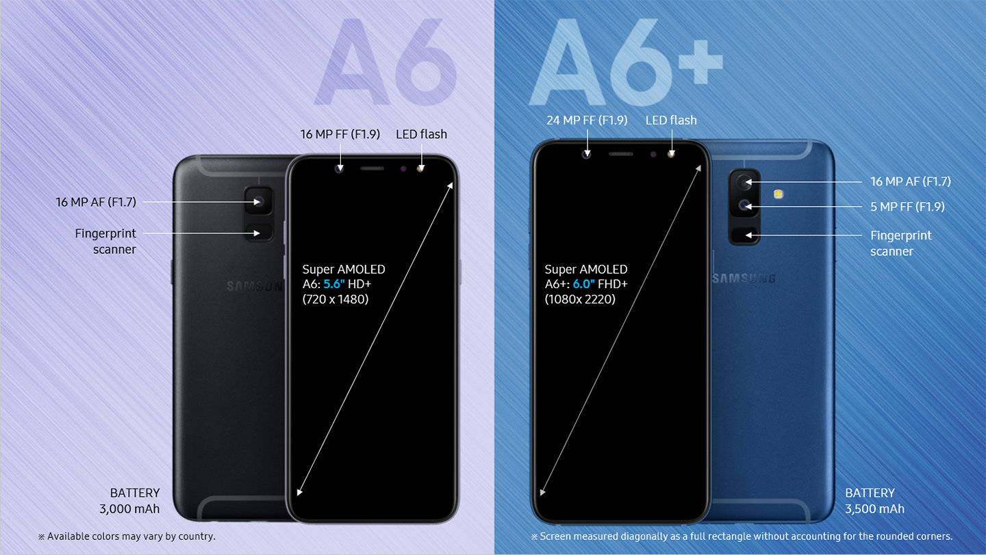 Samsung reveals Galaxy A6 and A6+ images and specs on its Indonesian