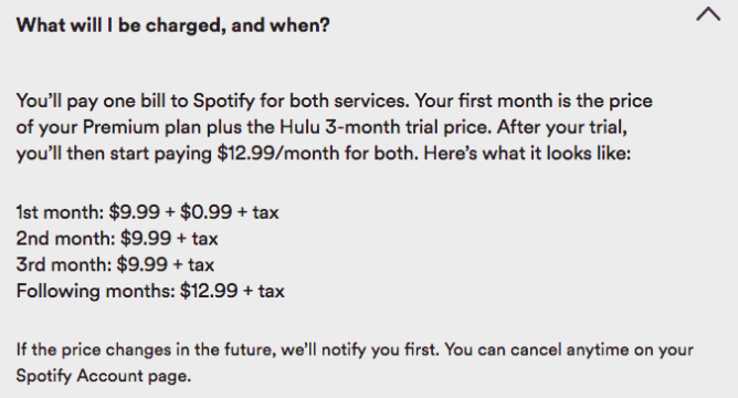 Spotify and Hulu team up for $13 subscription bundle