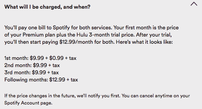 Spotify introduces Premium bundle with Hulu access for $12 99/month