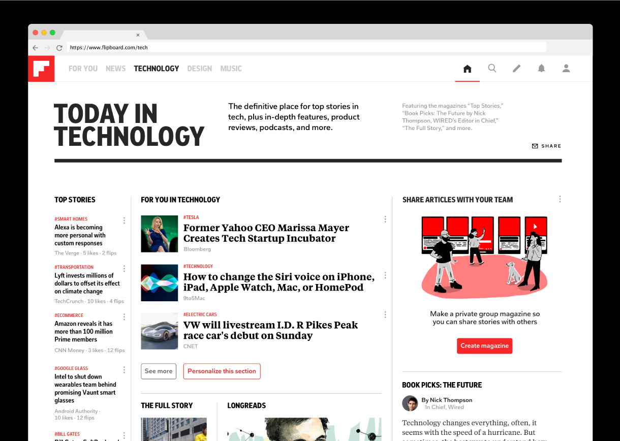 Flipboard revamps its technology category with more curated content ...