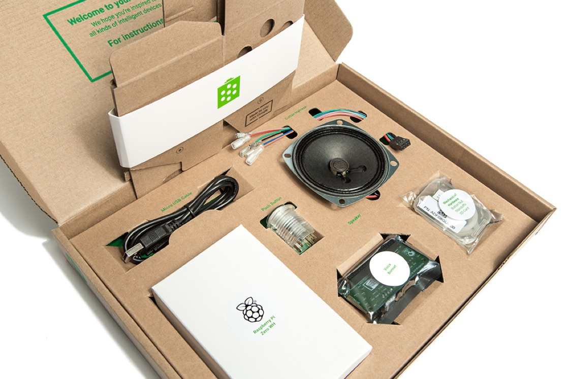 Google includes a Raspberry Pi in a DIY smart speaker kit