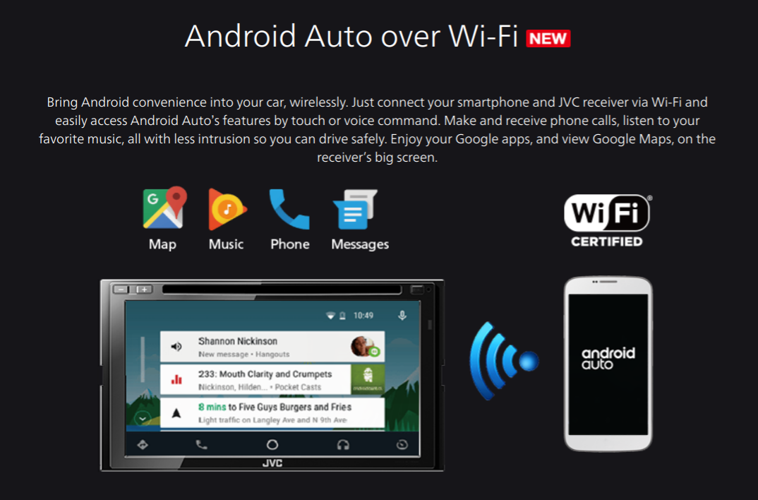 Android Auto Wireless is now enabled for Nexus and Pixel devices