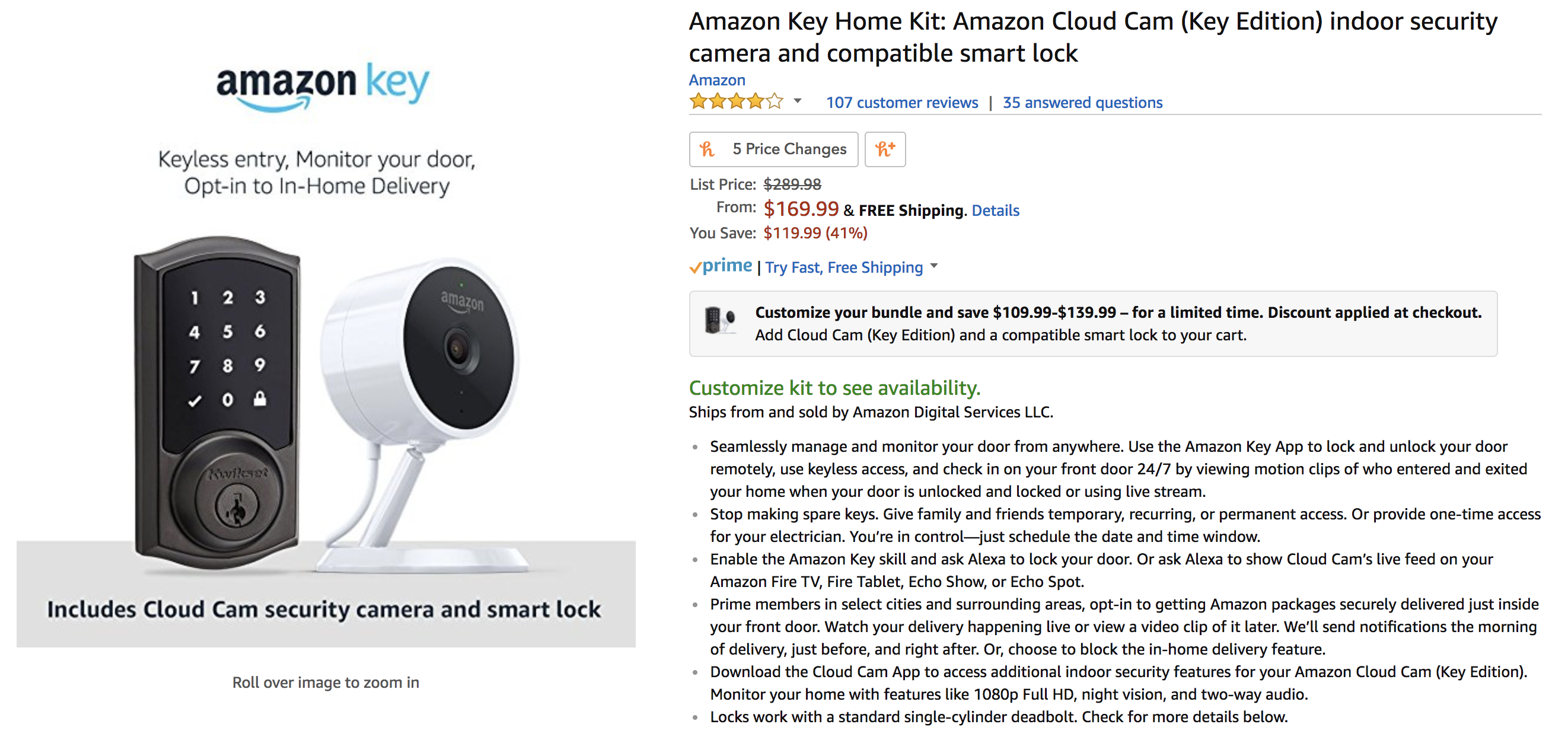 ... Allowing Amazon Prime Members To Remotely Unlock And Monitor Their Front  Door Using A Kit Consisting Of An Amazon Cloud Cam Security ...