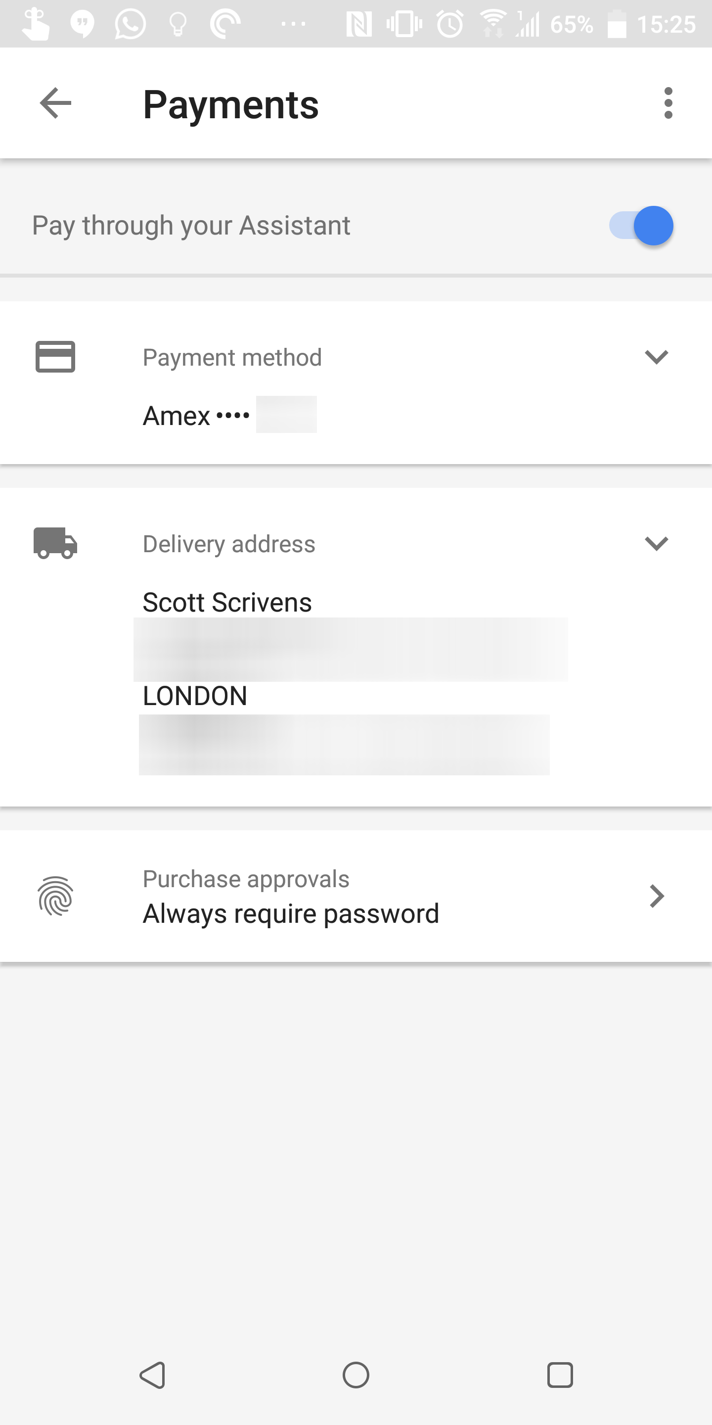Update] You can now set up a Google Assistant payment method
