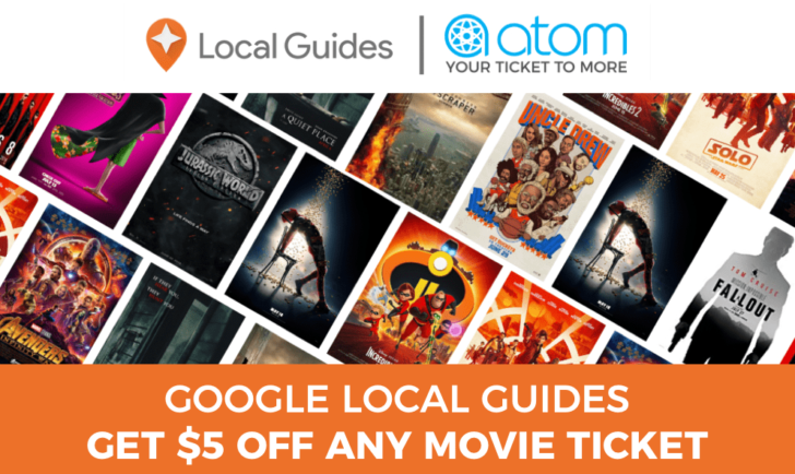 Google Maps Local Guides can get $5 off an Atom movie ticket