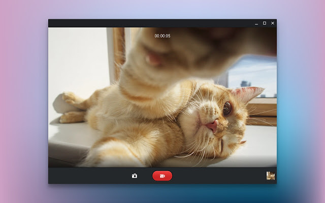 The default Chrome OS camera app now supports video recording