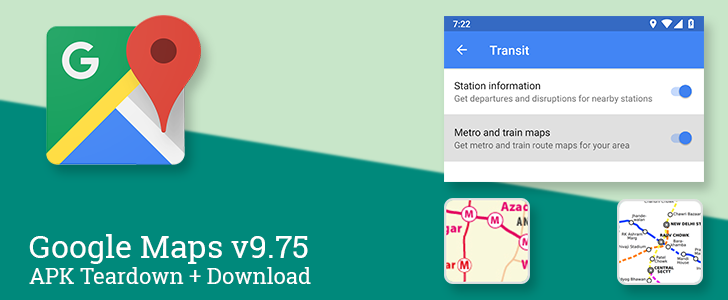 Google Maps v9.75 beta rolls out with notifications for transit maps on