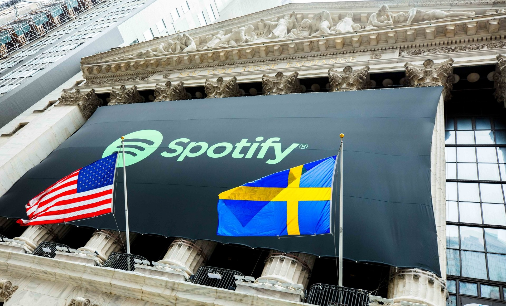 Spotify begins public trading under symbol spot the worlds largest streaming music provider began public trading today on the new york stock exchange under the symbol spot the stock opened at 16590 biocorpaavc Choice Image