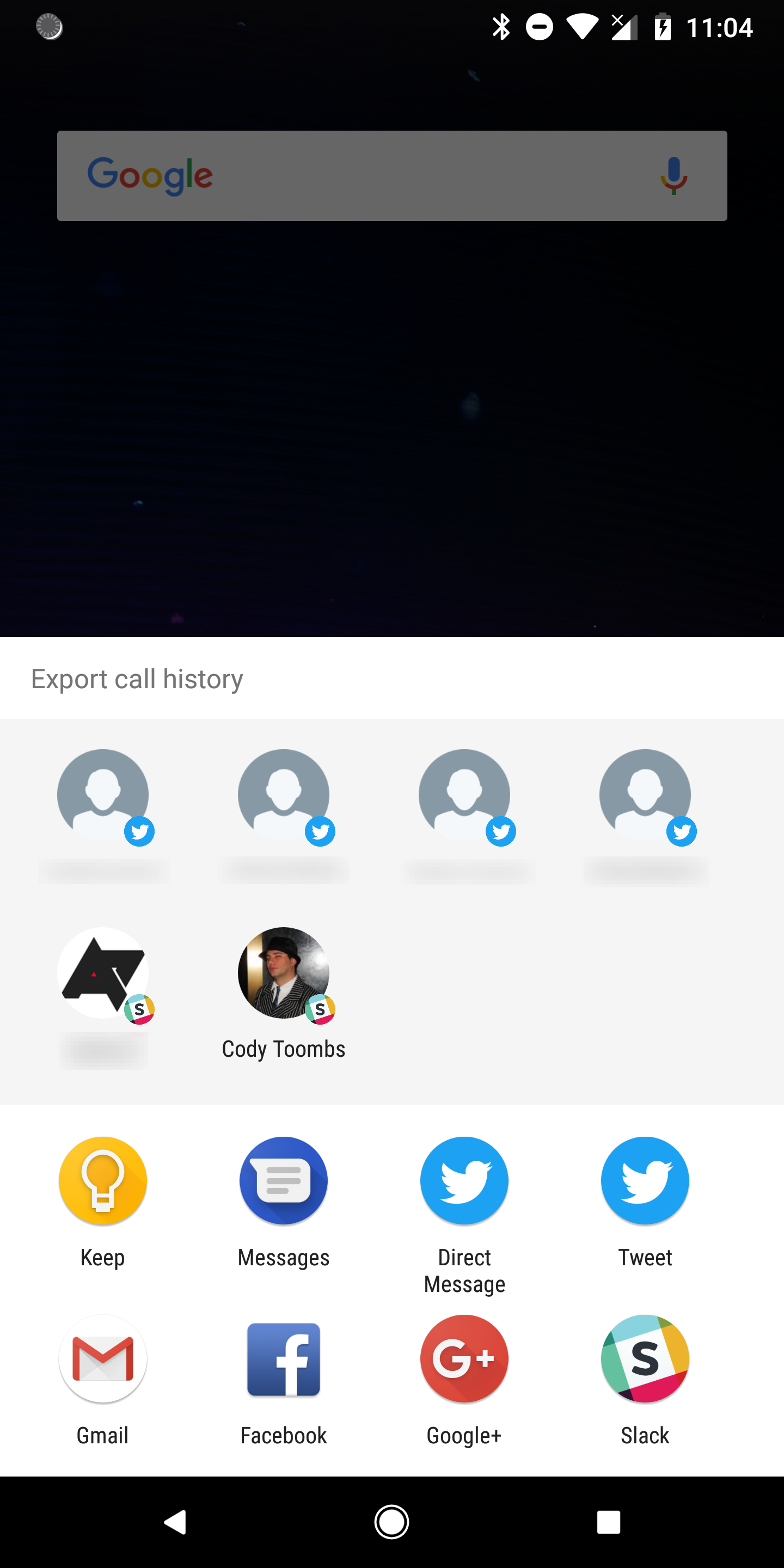 Google Duo v32 adds 'hacky' call history export, may introduce a