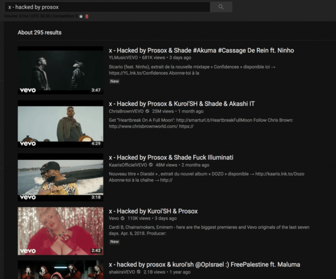 Hacked YouTube Music Videos Restored