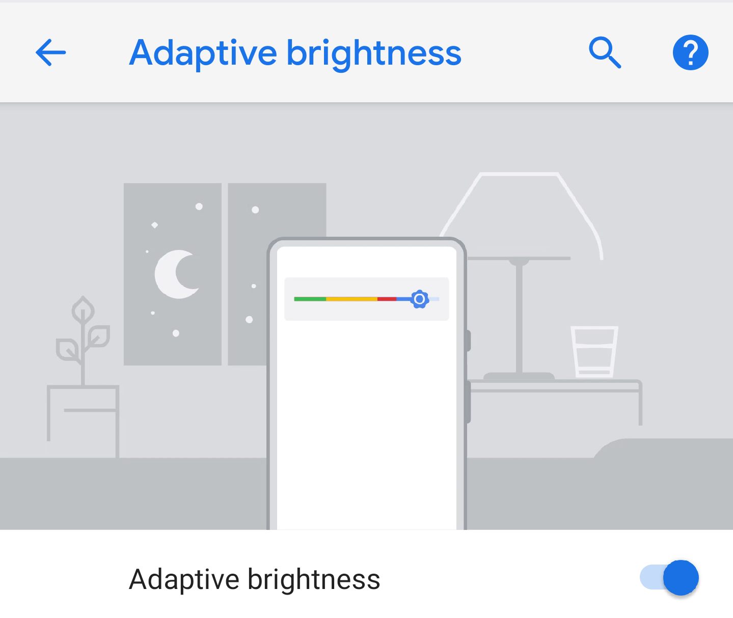 Image result for android p adaptive brightness