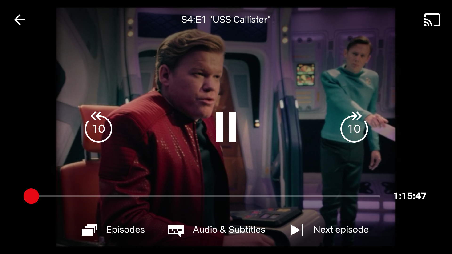 Netflix finally redesigns its player UI with larger controls, -/+ 10s, and 'Next Episode' button
