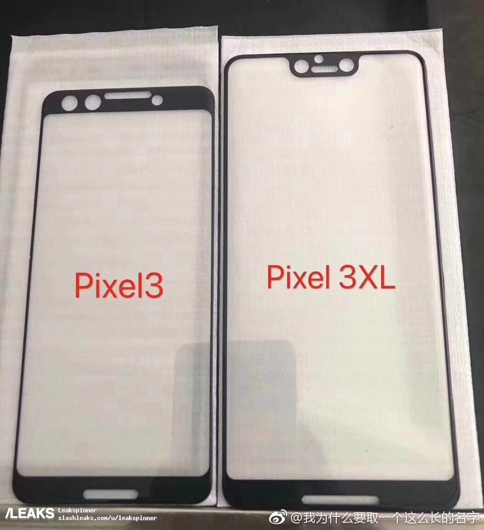alleged pixel 3 and pixel 3 xl glass screen protectors leak with