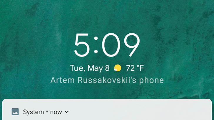 Update: Working again] Android P shows current weather conditions on