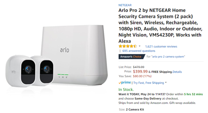 Deal Alert] Arlo Pro 2 add-on camera $175, 2-pack $400, and