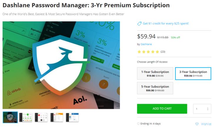 Deal Alert] Get 50% off a Dashlane password manager premium