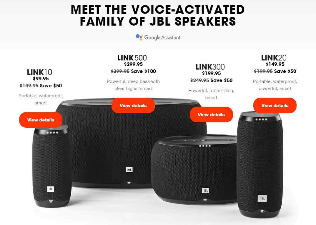 90d2839abe1 Deals · News. Need some multi-room or smart speakers in your house? Today's  your lucky day. JBL has discounts on 5 of its Chromecast speakers, ...
