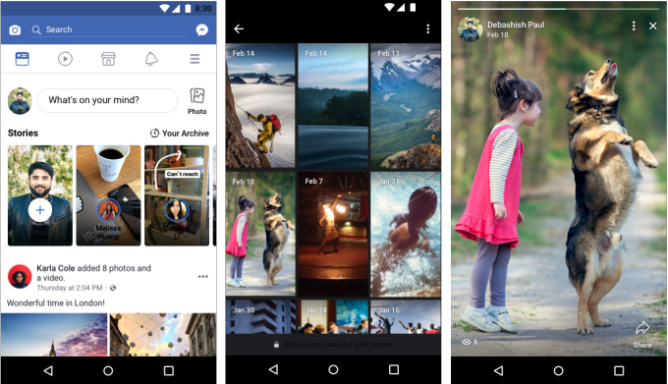 Facebook Stories archive