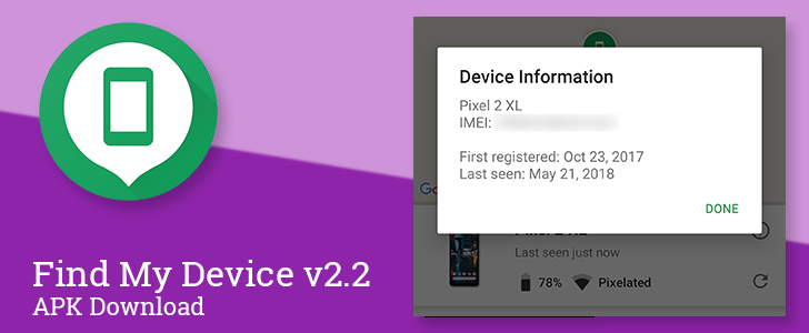 Find My Device v2 2 adds IMEI numbers to simplify reporting of lost