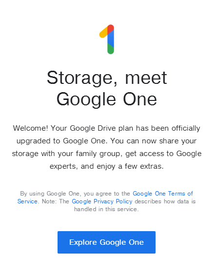 Update: Going live] Google One app arrives on the Play Store