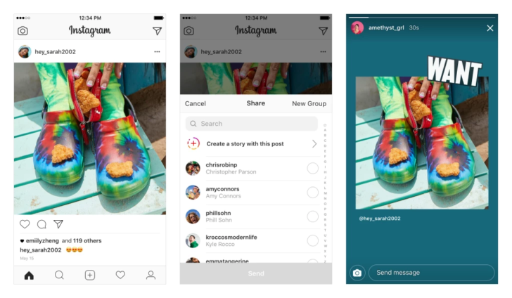 Instagram will now let you re-share public posts to your Stories