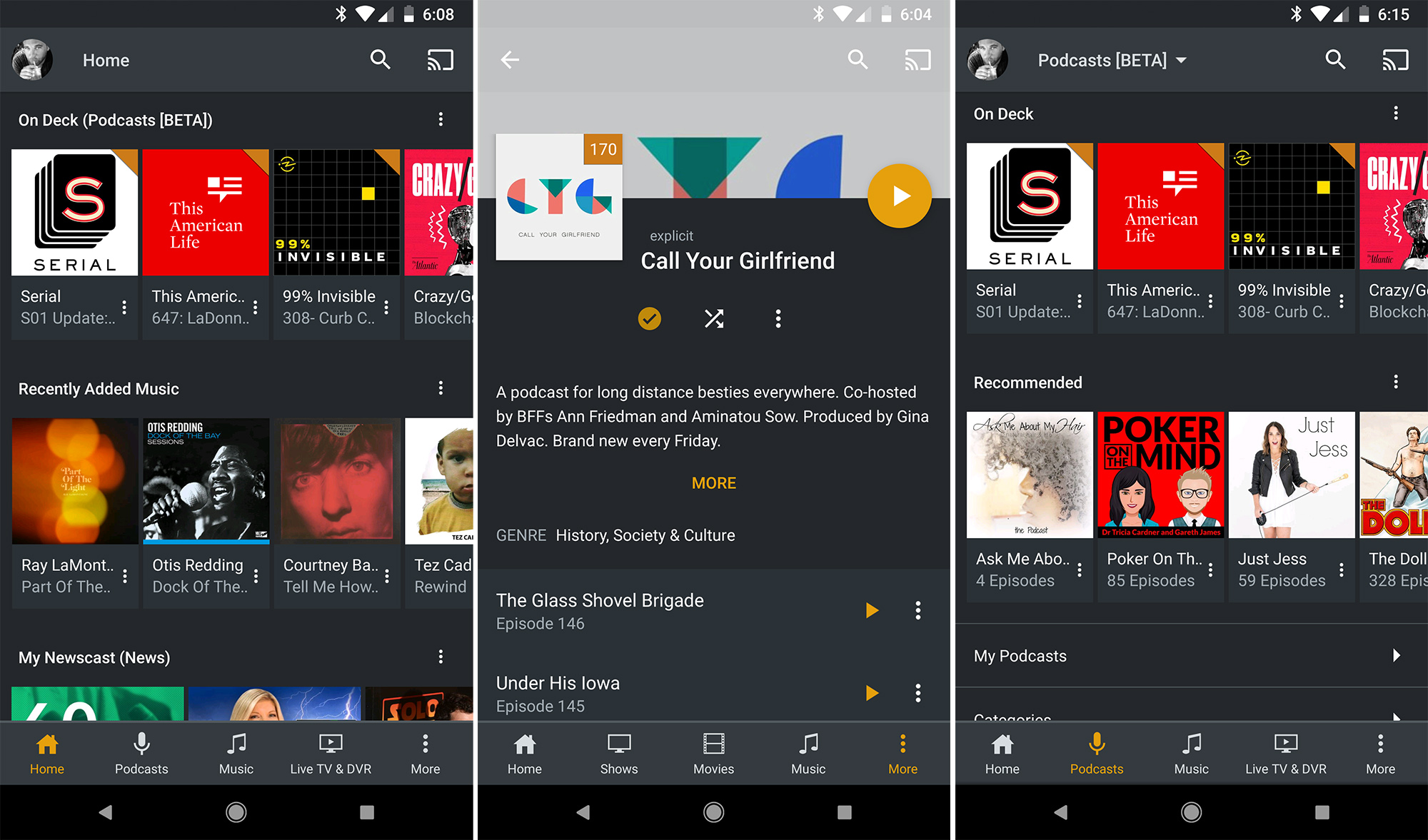 Plex for Android v7 0 adds podcasts, customizable home