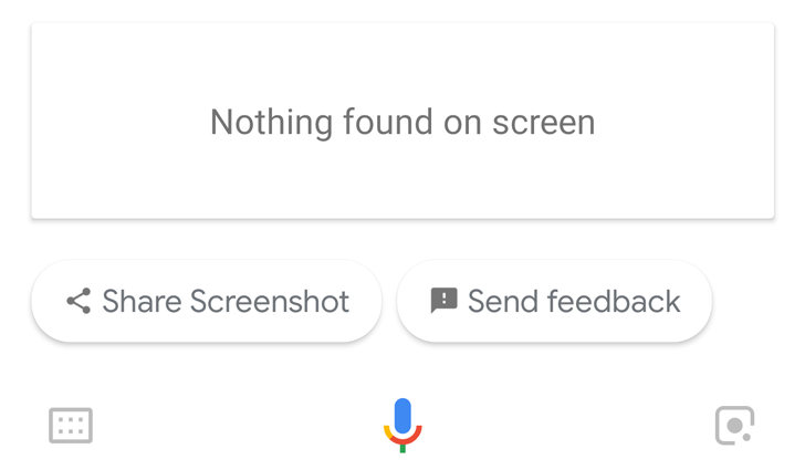 Update: Possible solution] Google Assistant screen search