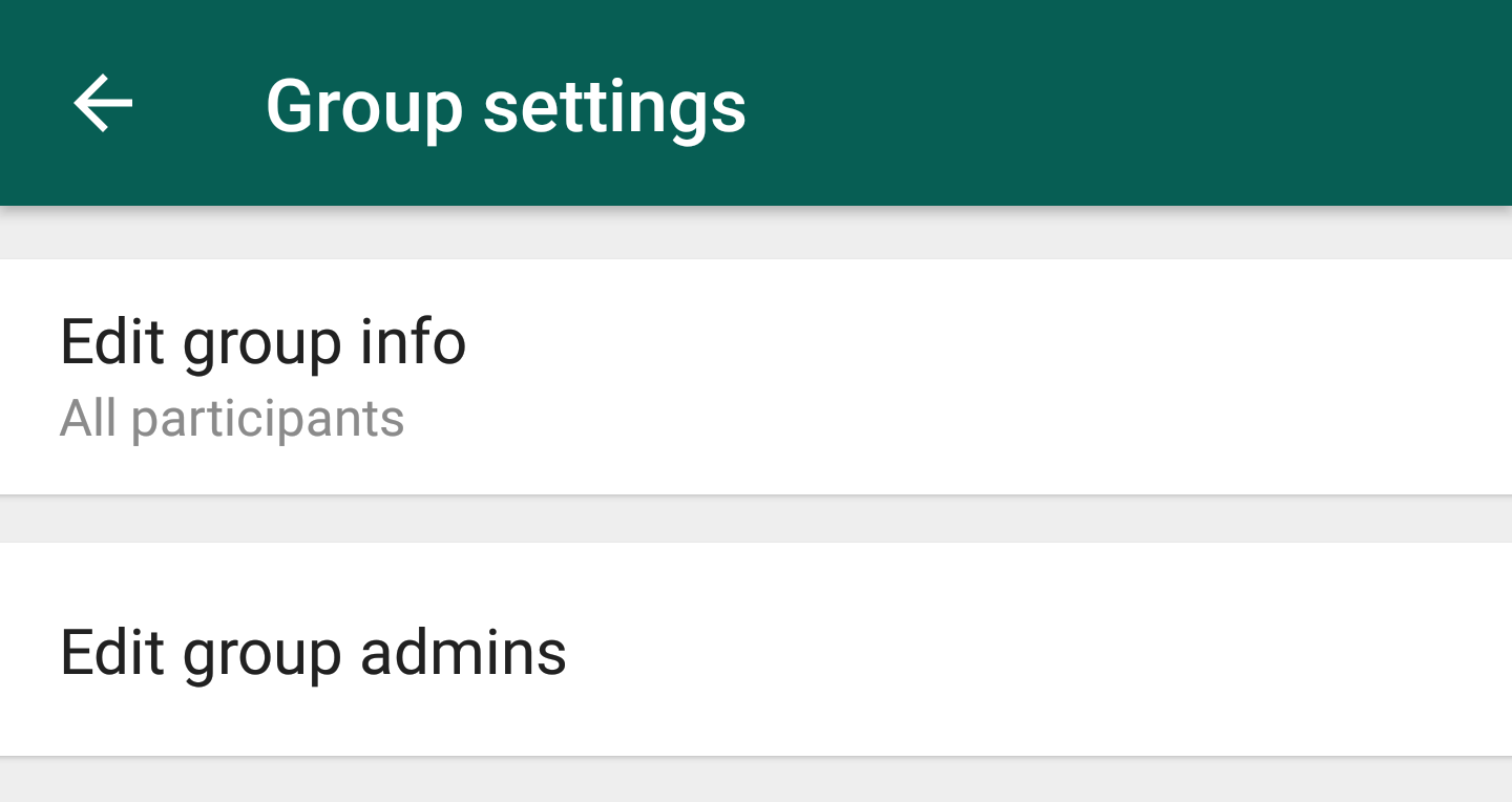 WhatsApp beta 2 18 132 is rolling out group settings and