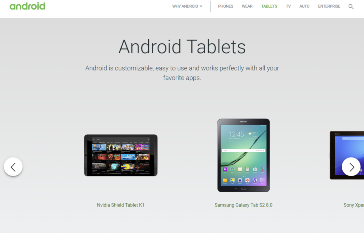 Update: It's back] Google unceremoniously removes the tablet