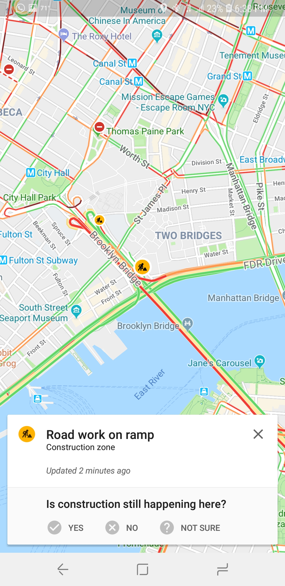 Google Maps now showing Waze-like incident confirmation