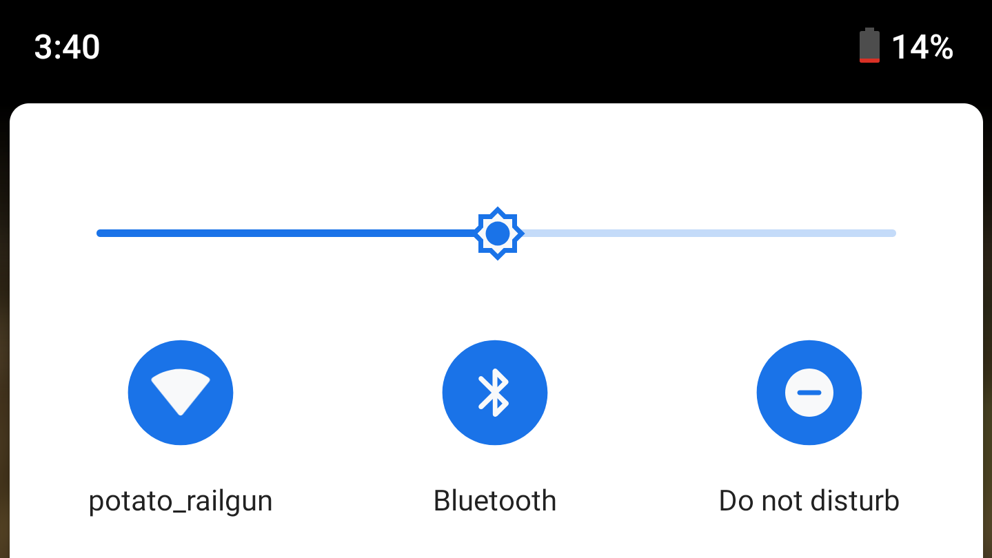 Improved logarithmic brightness slider introduced in Android