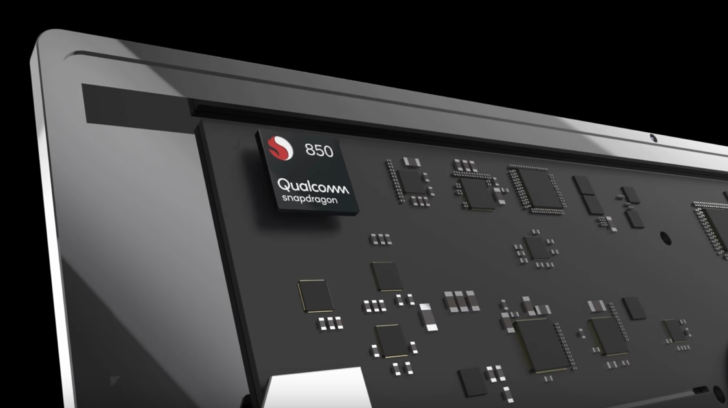 Qualcomm Announces Snapdragon 850 Chipset Built For Windows PCs