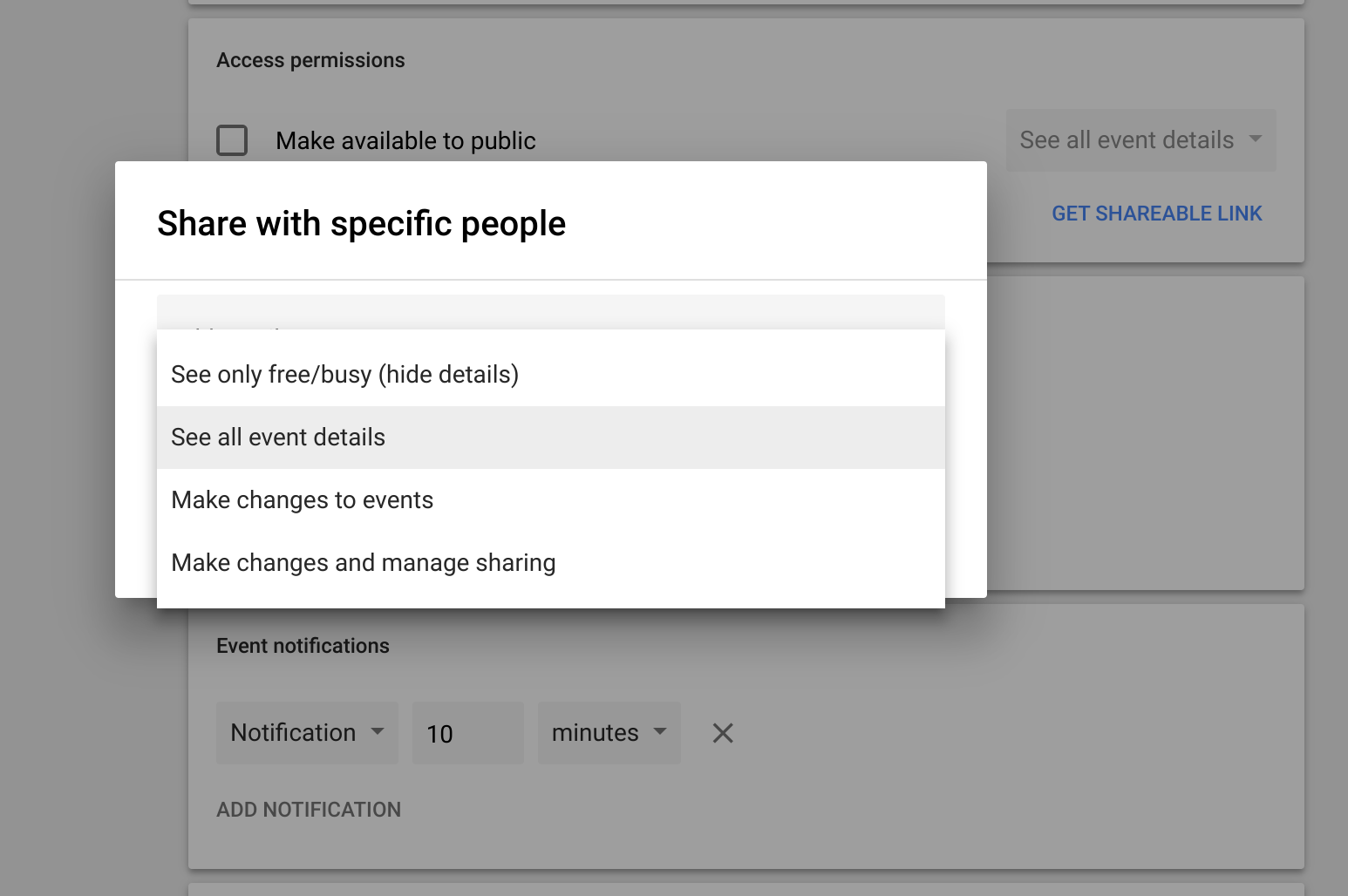 you might be sharing private events on google calendar without