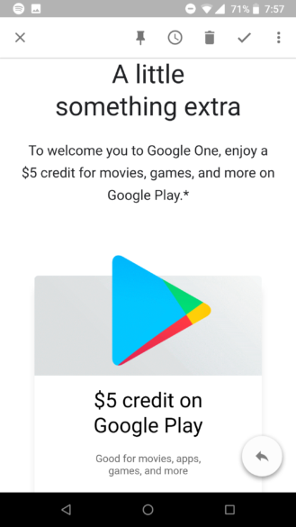 Check your email: $5 Play Store credit hitting select inboxes as