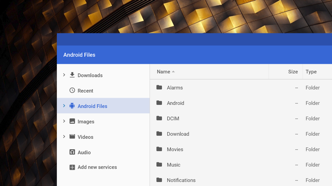 Android files will finally be accessible from Chrome OS file