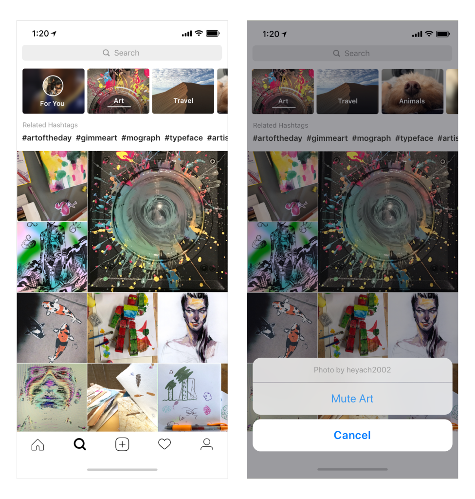 how to open instagram pictures in new tab