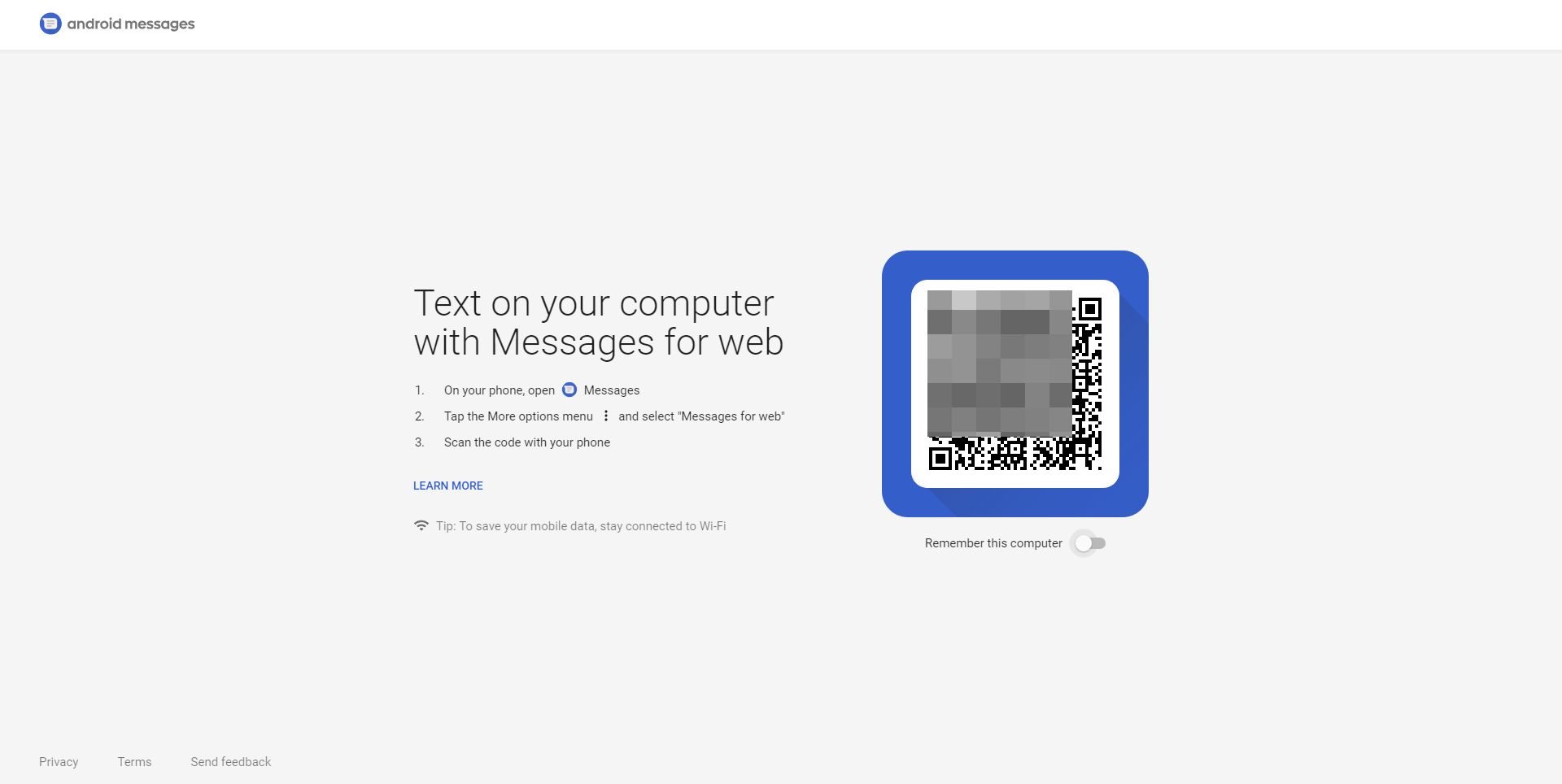 Update: Available to all] Android Messages web interface is
