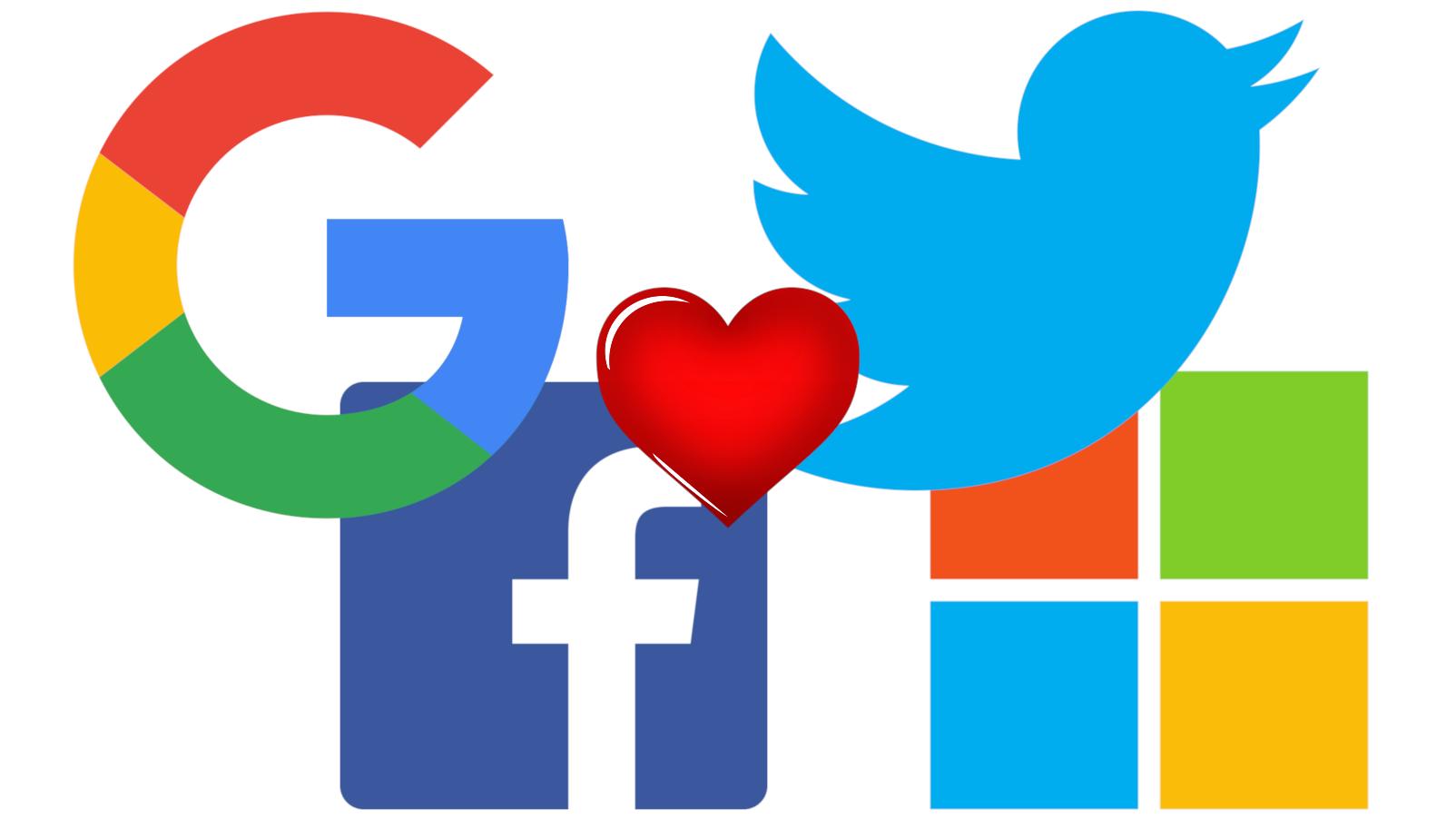 Google Facebook Twitter And Microsoft Unite Data Transfer