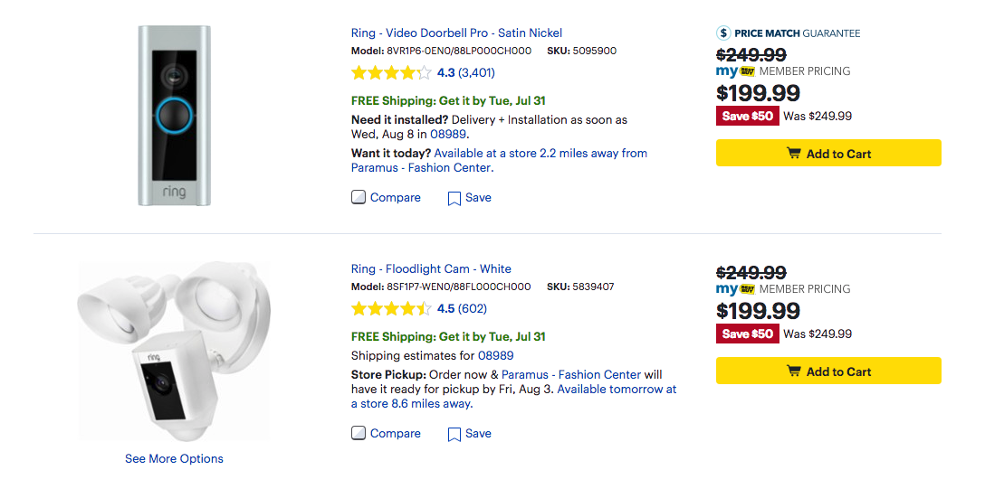 Deal Alert] Ring Floodlight Cam down to $200 ($50 off