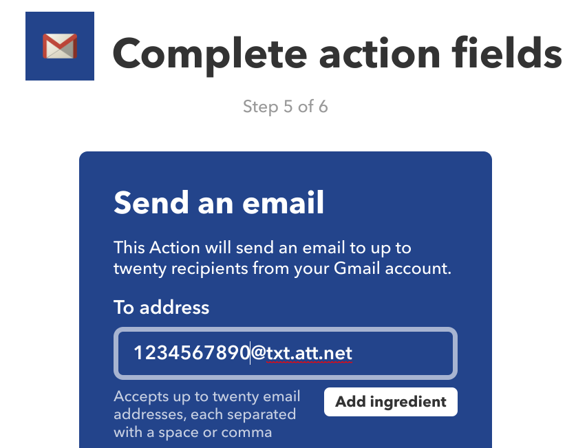 How to get around IFTTT's cap on sending SMS messages