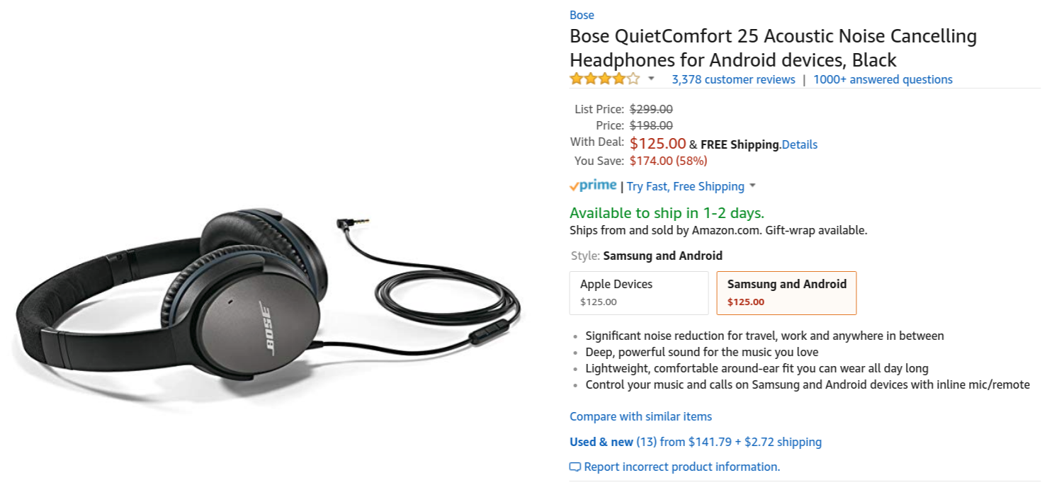 ad731098455 Bose makes some nice audio gear, but the general consensus is that it's a  bit on the pricey side. For Prime Day, though, Amazon is offering Bose ...