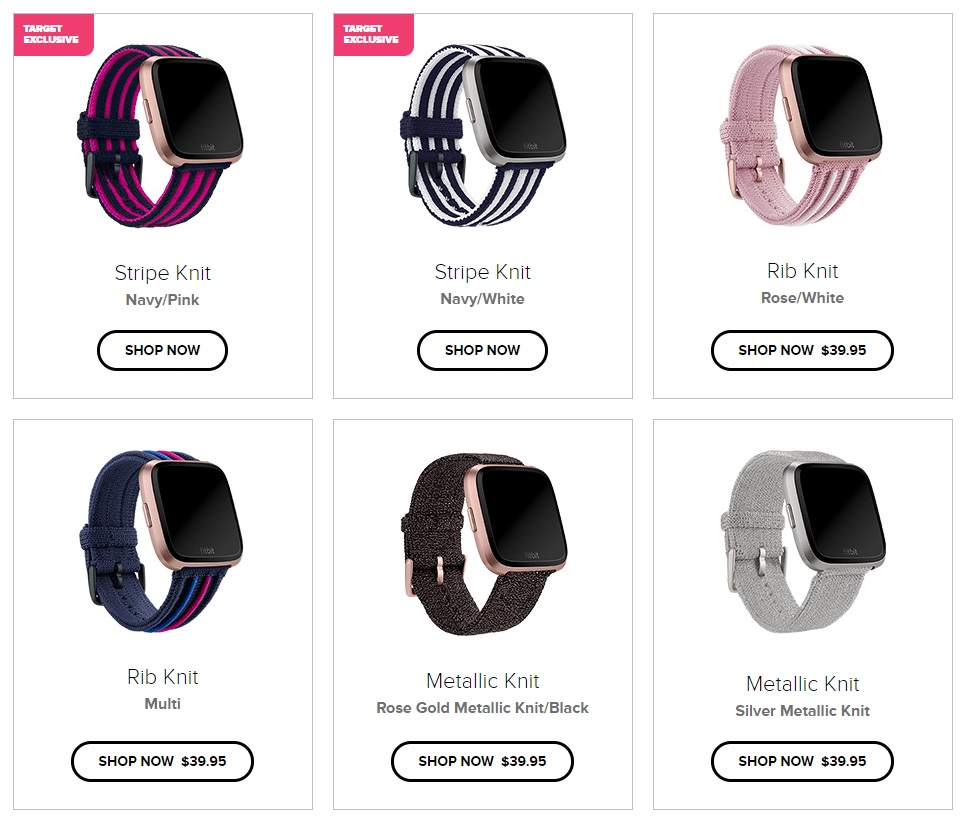 Fitbit Versa gets fashionable new knit watchbands from designer PH5