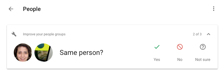 Google Photos web starts suggesting you merge faces of the